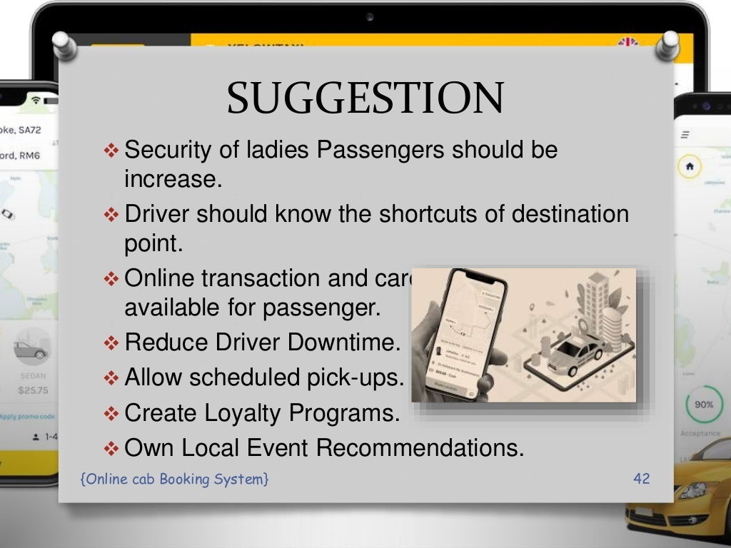 online Cab Booking System PPT Presentation page 42