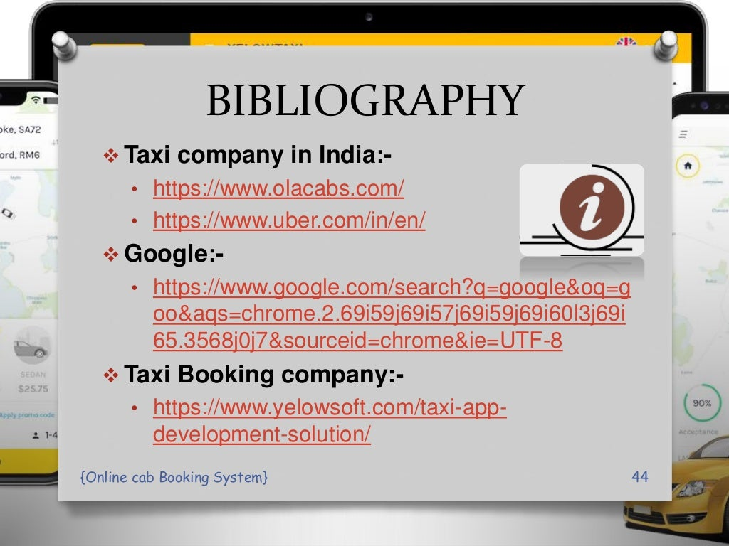 online Cab Booking System PPT Presentation page 44