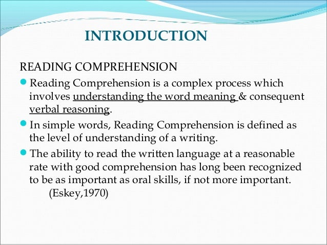 dissertation reading comprehension Thesispdf - download as which is basically a reading comprehension thesis: the reading patterns of the students who took part in the study are the.