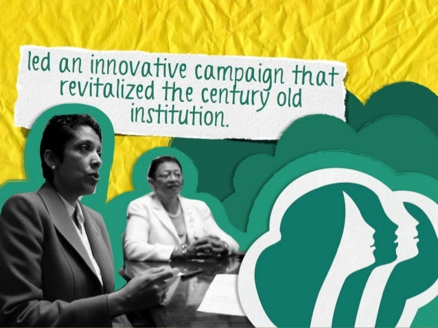 led an innovative campaig n that revitalized the century old institution.