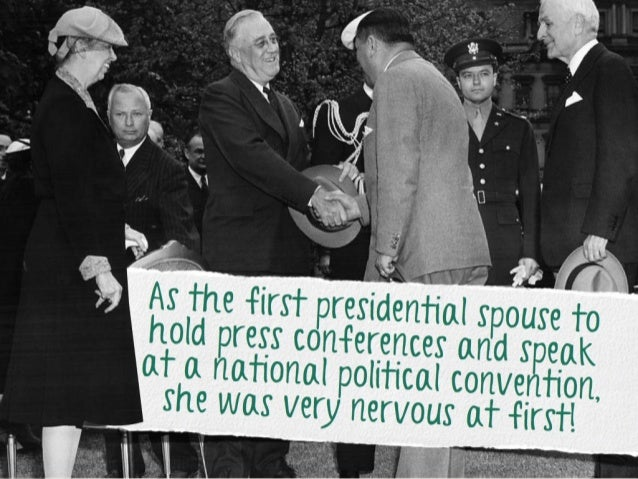 As the first presidential spo use to hold press conferences and speak at a national political conv ention, she was very ne...