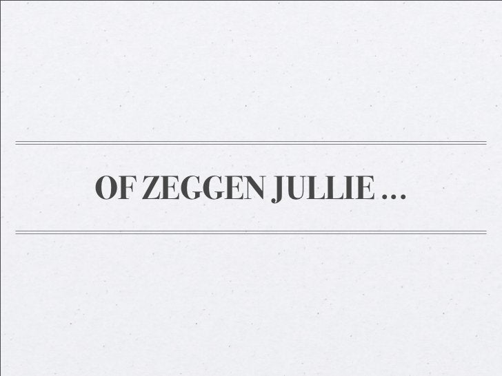 OF ZEGGEN JULLIE ...
