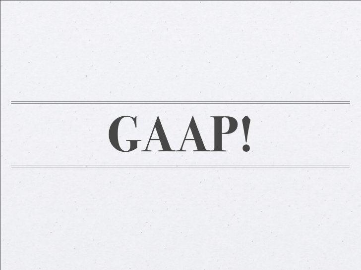 GAAP!