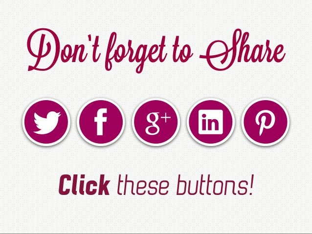 Don't forget to Share Click these buttons!