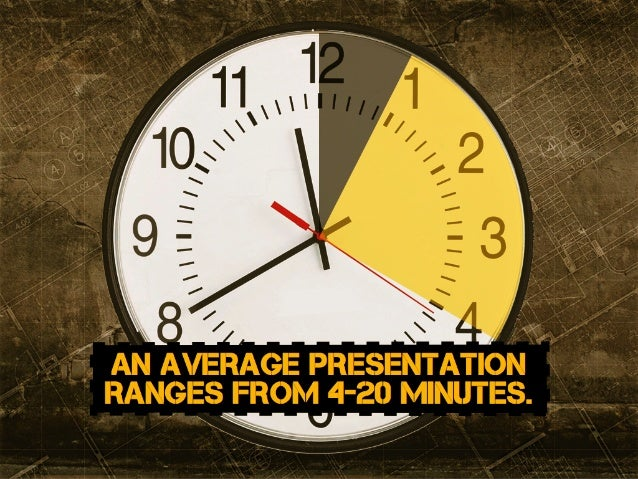 an average presentation ranges from 4-20 minutes.