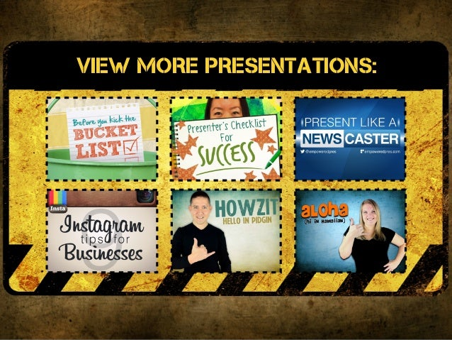 VIEW more presentations:VIEW more presentations:
