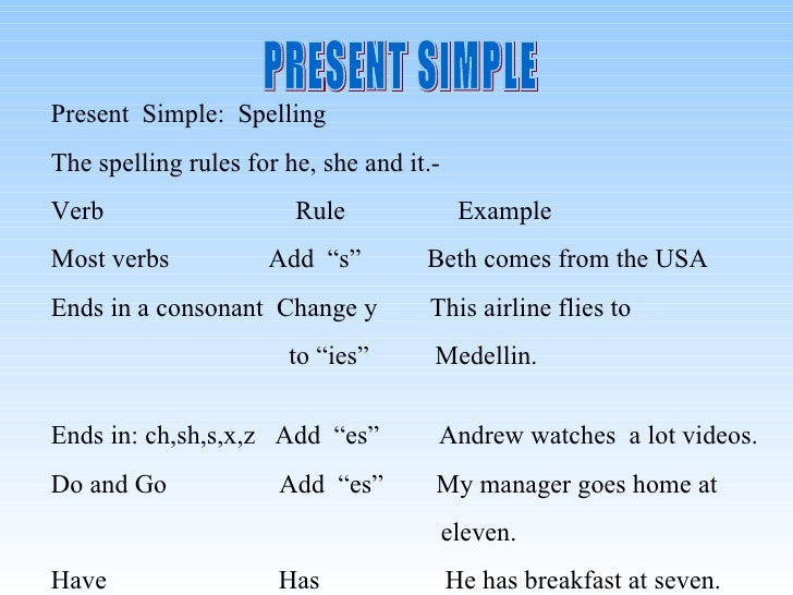 Simple Present Tense What is the Simple Present Tense