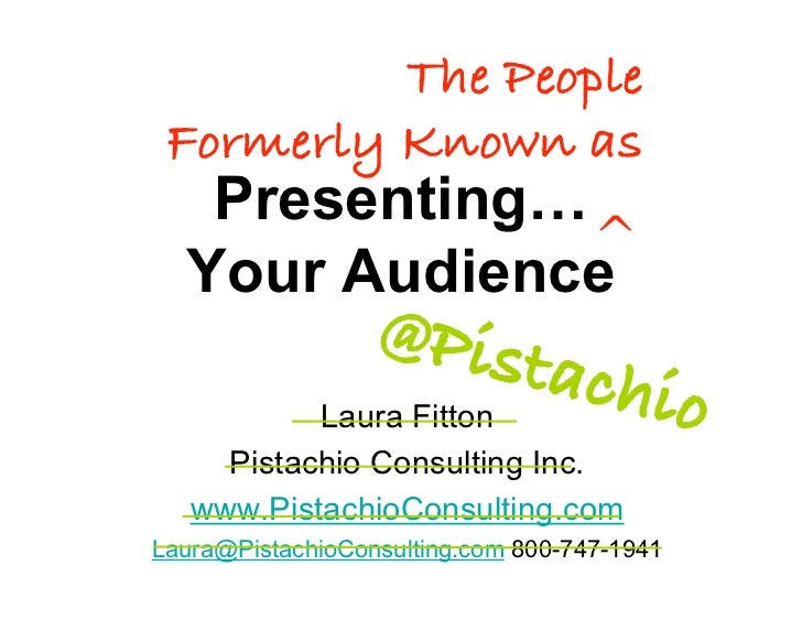 The People  Formerly Known as    Presenting…               ^   Your Audience                   @Pist                      ...