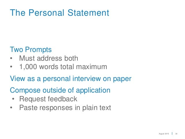 uc personal statement prompts 2012