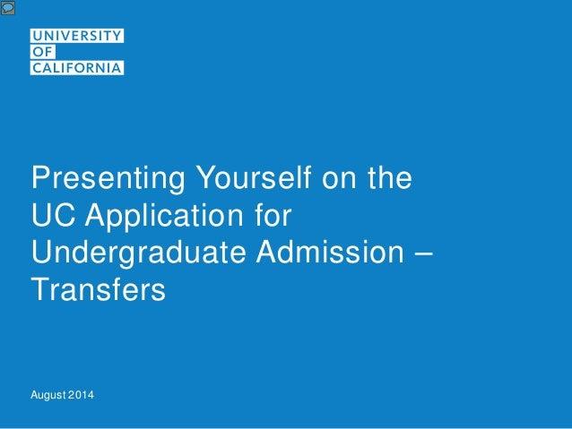 application essay for undergraduate