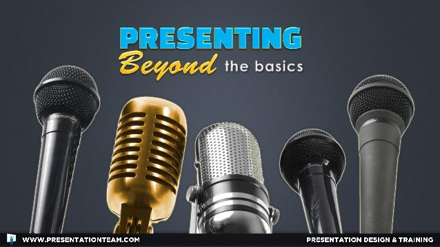 "Presenting Beyond the Basics: A few lesser-known ""nuts-and-bolts"" of presenting advice."