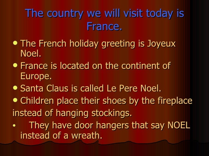 Presenting christmas around the world christmas in france 12 m4hsunfo