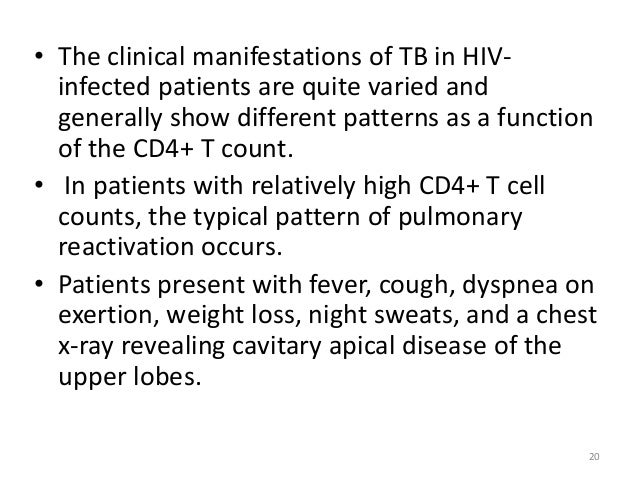 Presenting problems in HIV infection
