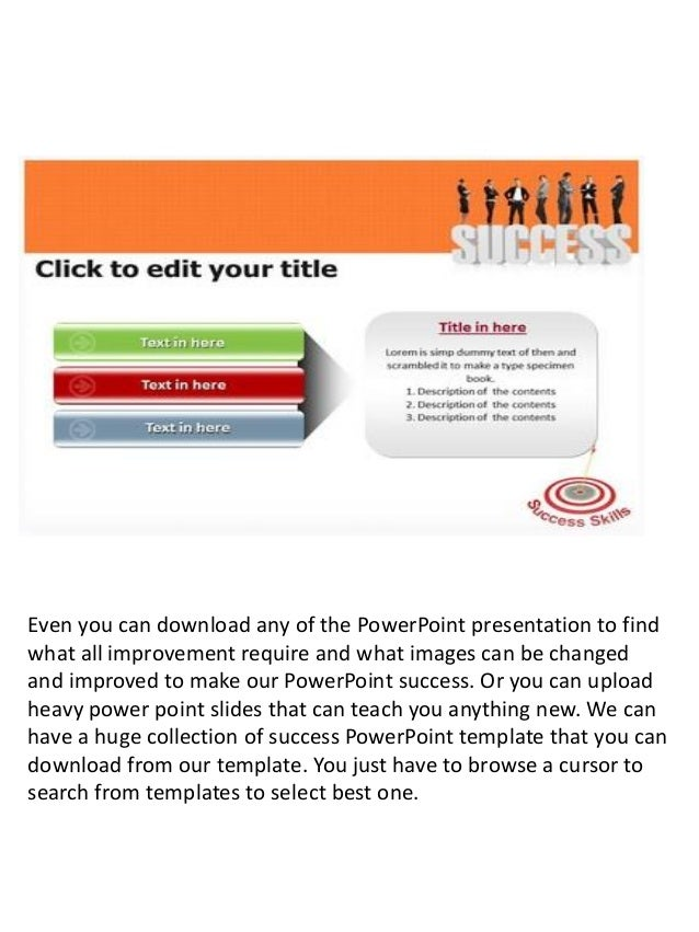 Presenting Success Powerpoint Template