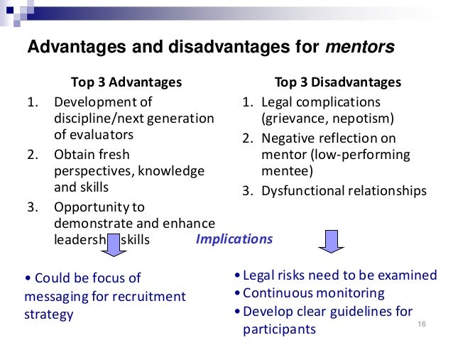 advantages and disadvantages of mentoring pdf