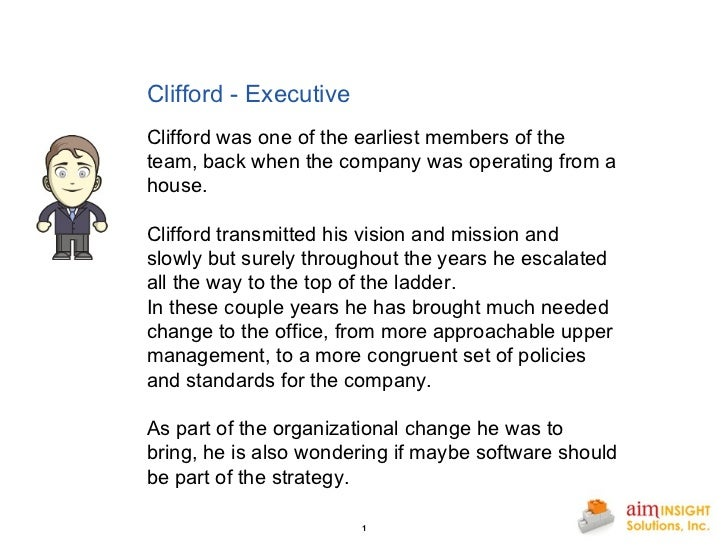 Clifford - Executive   Clifford was one of the earliest members of the team, back when the company was operating from ...