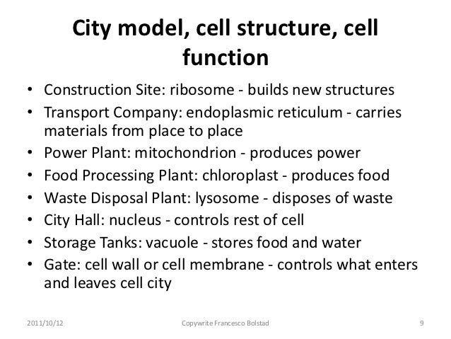 Presenting with analogy and metaphor 2 – Cell City Analogy Worksheet