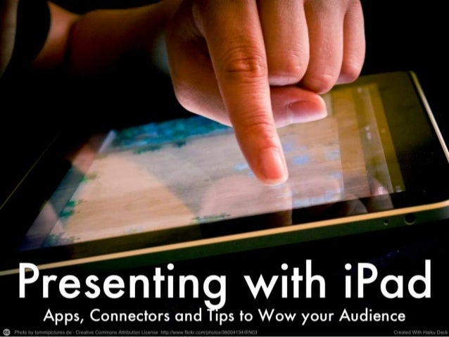 Presenting with iPad