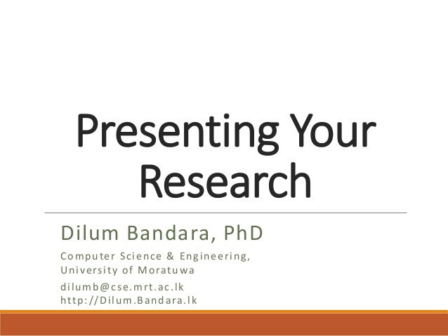 presenting your research paper Presenting your research as with any research paper giving an oral presentation about your mathematics research can be very exciting you.