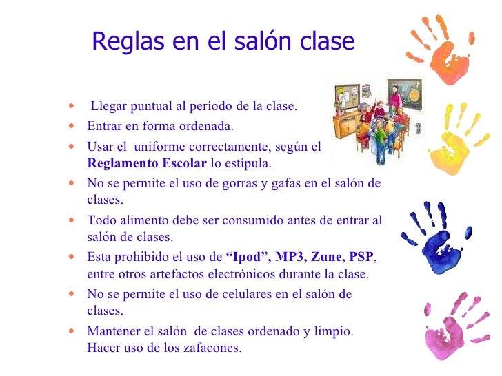 Presentacion introduccion for 10 reglas del salon de clases en ingles