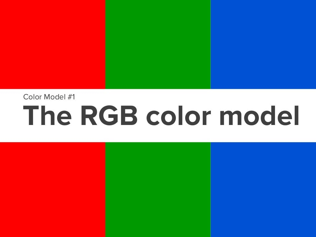 The RGB color model (Red-Green-Blue)