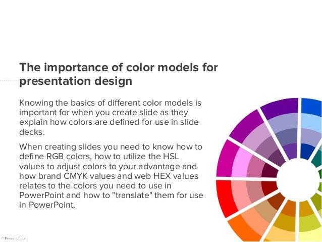 The 4 important color models for presentation design Slide 2