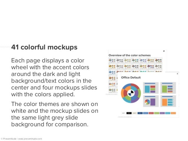 Overview of the 41 color themes  © Presentitude | www.presentitude.com