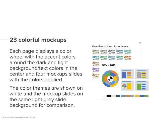 Overview of the 23 color themes  © Presentitude | www.presentitude.com
