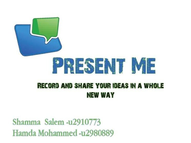Content (1/2)•   What is present me ?•   How can it works ?•      Register, work•   Presentation Graphics Features•   Who ...