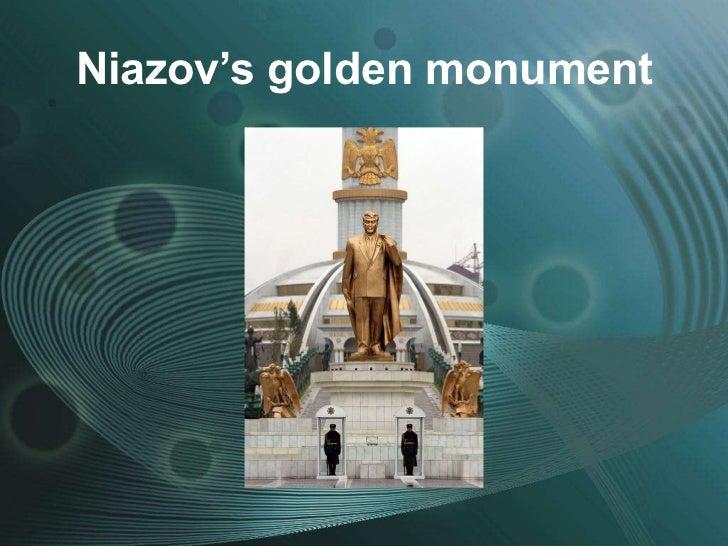 Niazov's golden monument