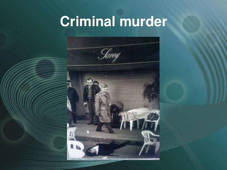 Criminal murder
