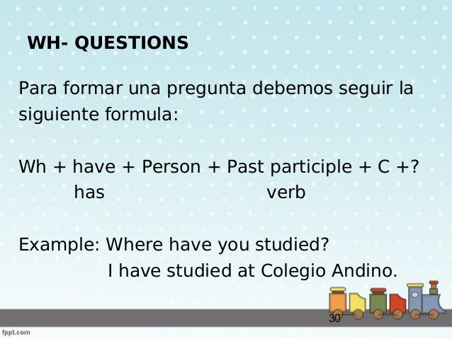 Present perfect formula and examples
