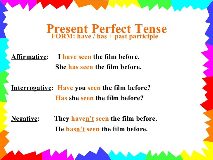 Present perfect rules