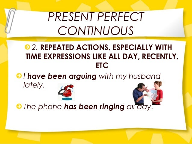 Present perfect continuous part one |authorstream.