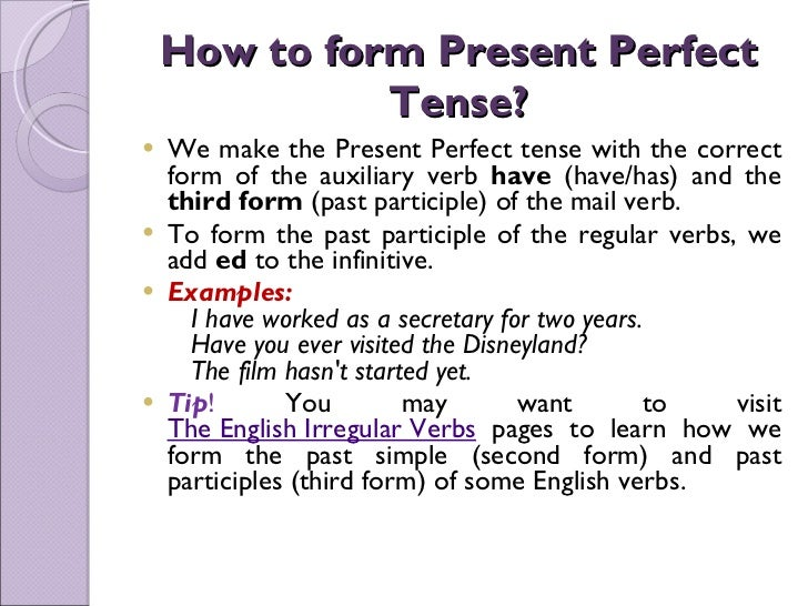 Past Tense And Present Perfect Exercises | David Simchi-Levi