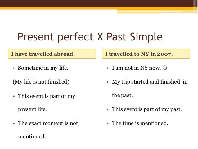Present perfect and past simple exercices