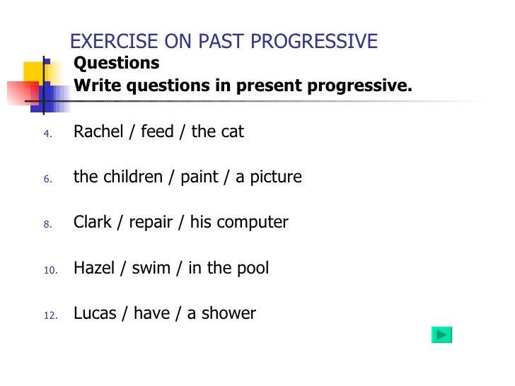 Present Progressive Presentation – Present Progressive Worksheet