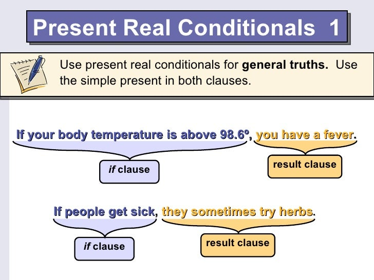English Present Real Conditionals