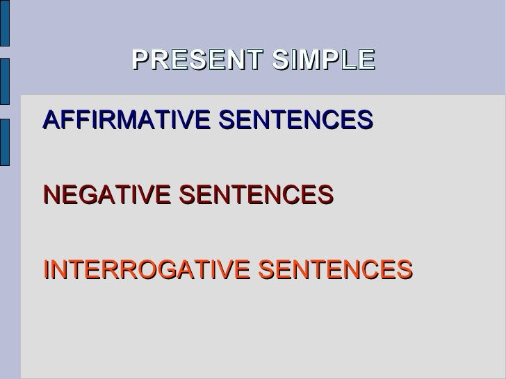 Elementary Grammar Present Simple Positive to Negative