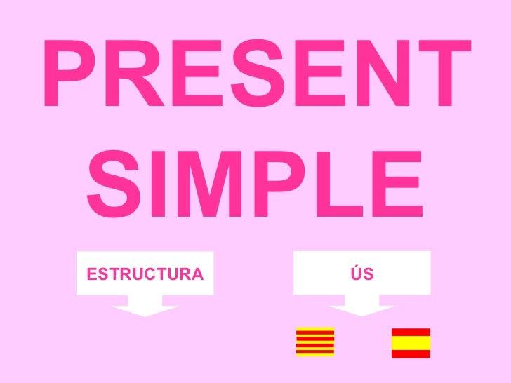 PRESENT SIMPLE ESTRUCTURA ÚS