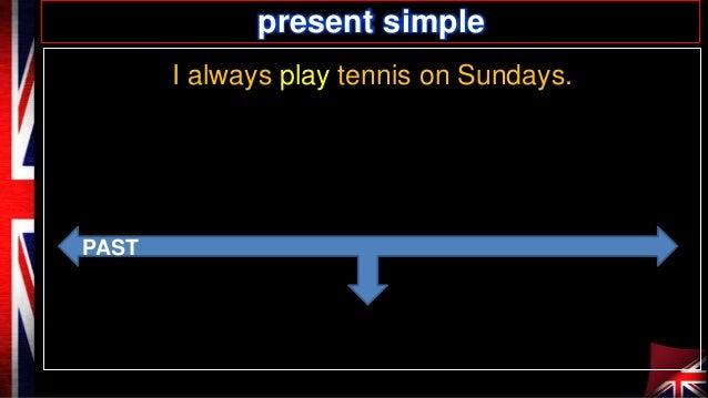 present simple I always play tennis on Sundays.  PAST