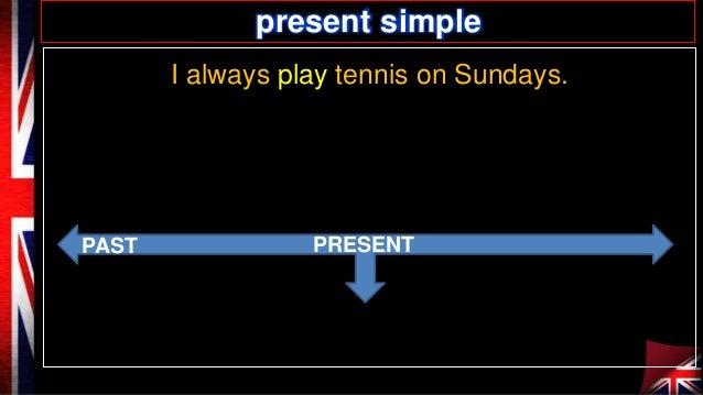 present simple I always play tennis on Sundays.  PAST  PRESENT