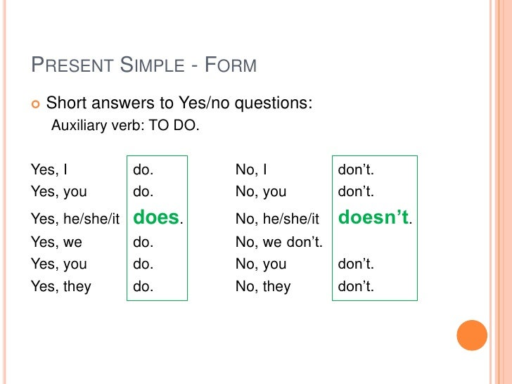 present simple questions and short answers exercises pdf