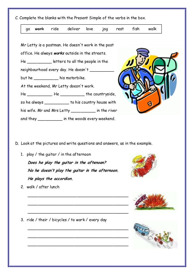 Printable Worksheets third person singular worksheets : Present simple AND THIRD PERSON