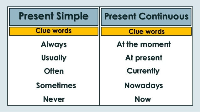 recognizing and using present continuous You can w 1 check your grammar: true or false – present continuous are these sentences true or false 1 we use the present continuous for.