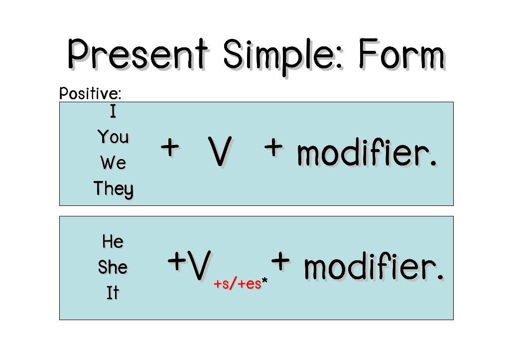 F2F: Present Simple