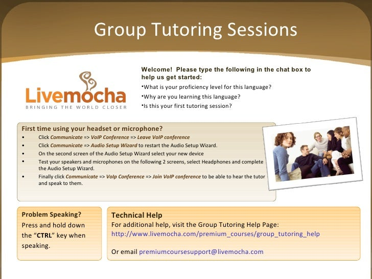 Group Tutoring Sessions <ul><li>Welcome!  Please type the following in the chat box to </li></ul><ul><li>help us get start...