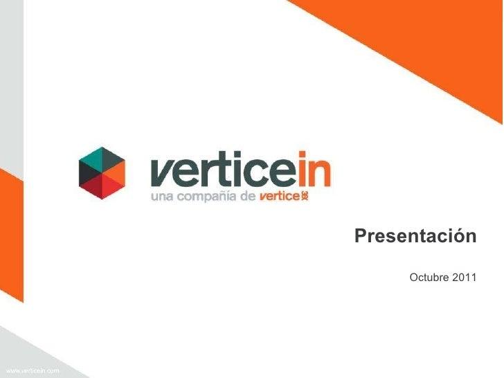 Presentación Octubre 2011