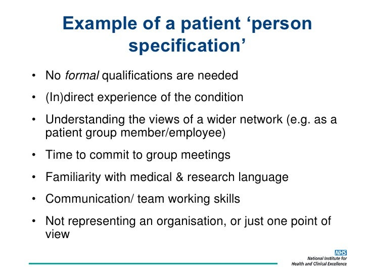 Patient Carer Public Involvement In Clinical Guidelines The Nice