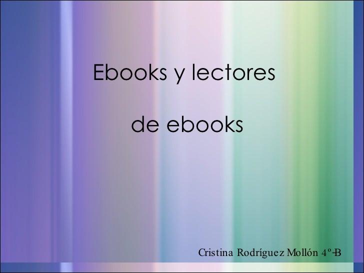 eBooks y lectores  de eBooks